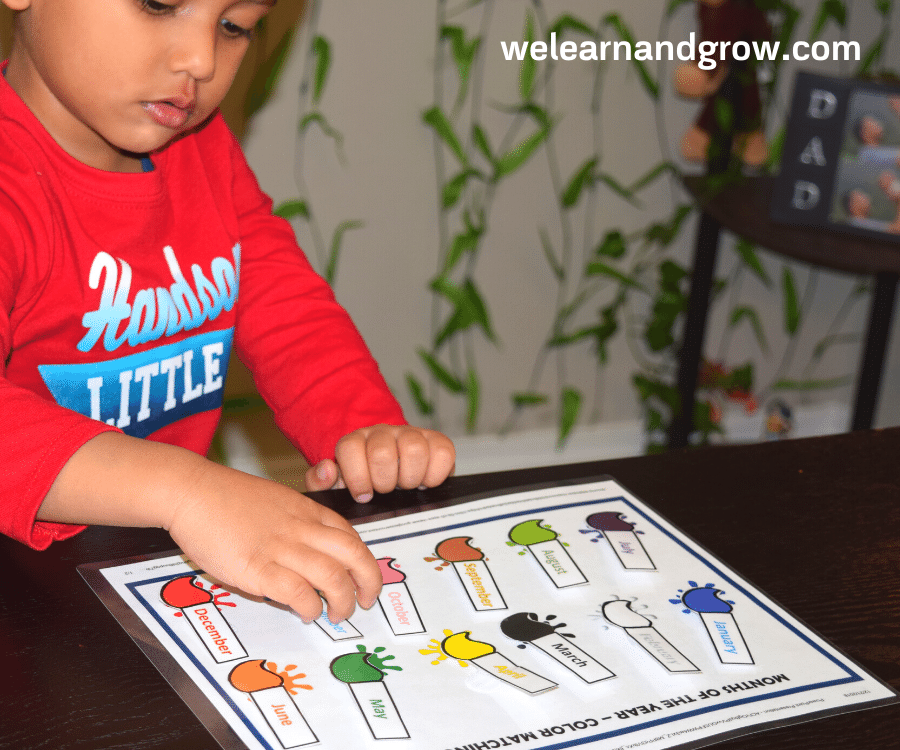 Months of the Year activity for kids - free printable