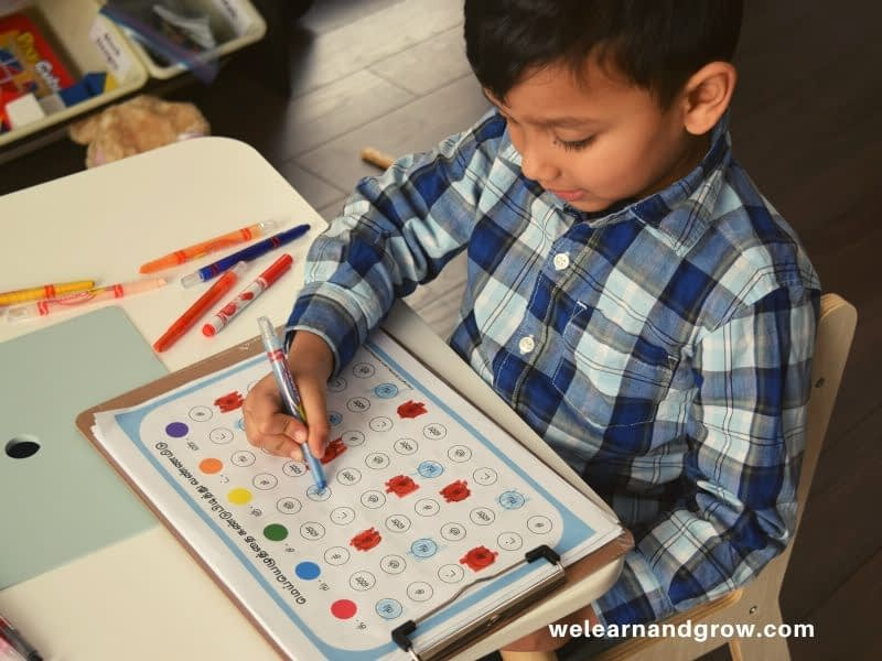 """""""Tamil Letter Recognition Worksheets I Find and Circle or Color I We Learn and Grow"""""""