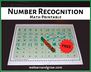 """""""Number Tracing and Recognition Math Worksh""""eets for Kids - We Learn and Grow"""