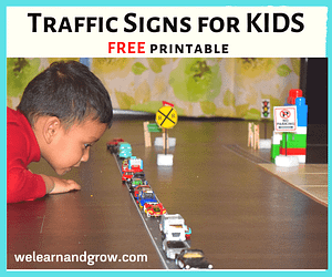 traffic sign kids printable - road signs for kids we learn