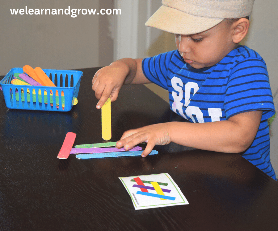 Popsicle Stick Pattern and Design Cards -Build Spatial Reasonsing and Logical Thinking