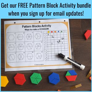 pattern block activity sheets and printables we learn and grow