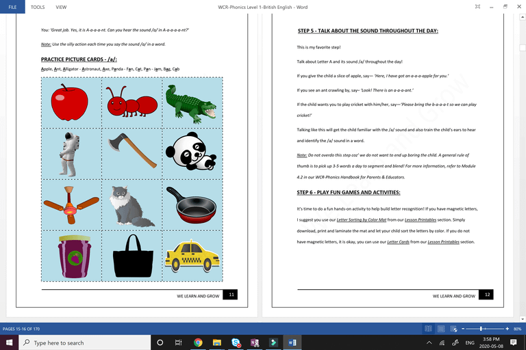 We Can Read Phonics - Lesson Page