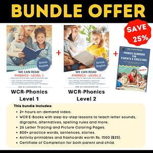 We Can Read - Phonics Online Course Bundle Program