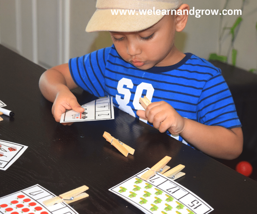 Free counting printables math clip cards for kids