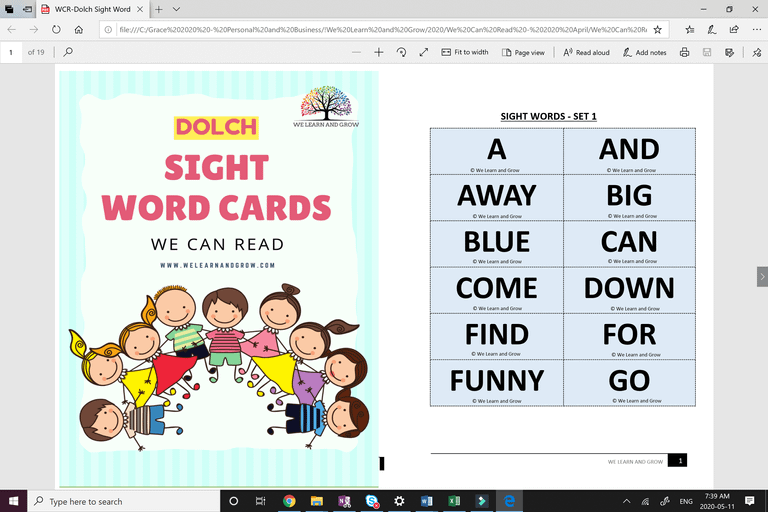 Sight words - Phonics We Can Read